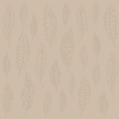 Tan Feather Pattern