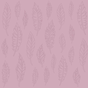 Pink Feather Pattern