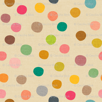 Mid Century Polka Dots - large