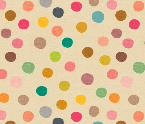 Mid Century Polka Dots - large fabric by ceciliamok on Spoonflower - custom fabric
