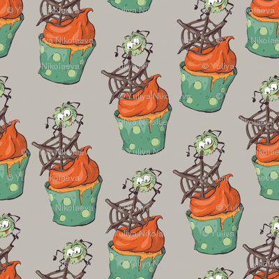 seamless halloween party pattern wrapping with decorations