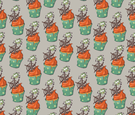 seamless halloween party pattern wrapping with decorations fabric by yuliya_art on Spoonflower - custom fabric