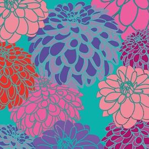 Dahlias-Bg-turquoise
