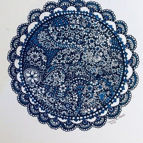 Mandala blues extreme doodle