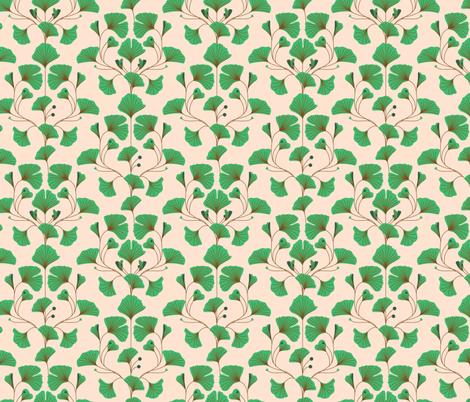 ginkgo fabric by annaboo on Spoonflower - custom fabric