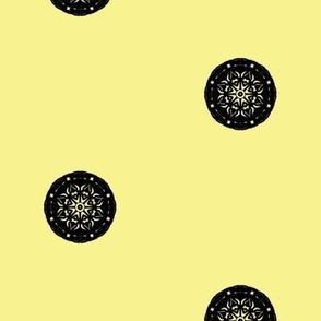 Dressy Black Button Spots on Buttery Yellow