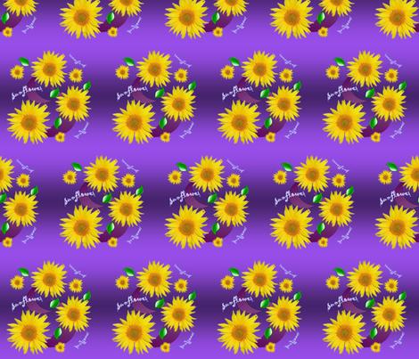 sunflowerfabric fabric by suereaddesigns on Spoonflower - custom fabric