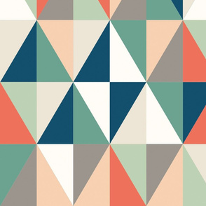 triangles retro color