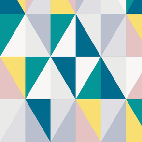 triangles with petrol and yellow