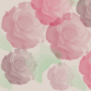 Roses in watercolor style