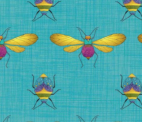 Dragonflies & Beetles fabric by tentwentytwodesign on Spoonflower - custom fabric