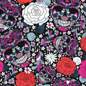Paisley Skulls + Roses