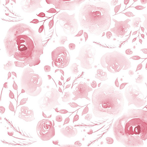Pretty Watercolor Floral Pink
