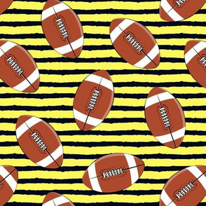 college football - black on yellow stripes