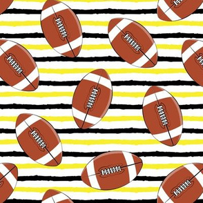 college football - black and yellow stripes