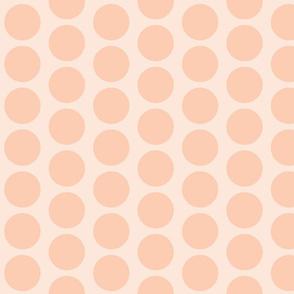 Sunset - Apricot Circle Dot Pattern