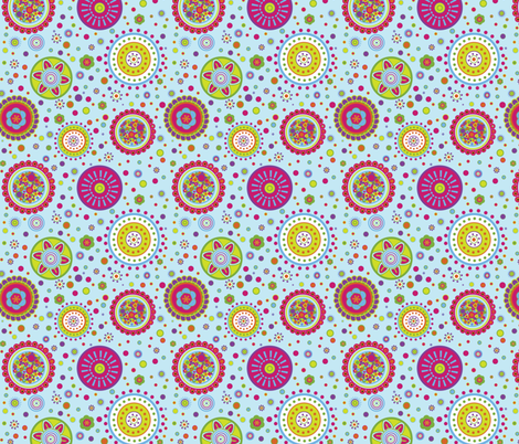 Amelia's Circles Blue-01 fabric by karen_m_wertz_surface_pattern_designer™ on Spoonflower - custom fabric