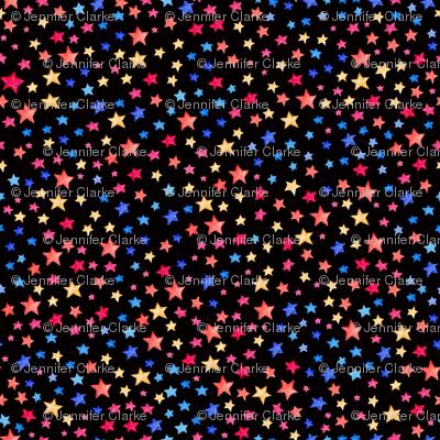 Stars - multi on black