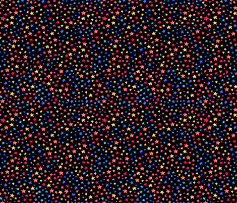 Stars - multi on black  fabric by jenuine_designs on Spoonflower - custom fabric