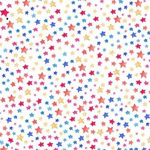 Stars - multi on white