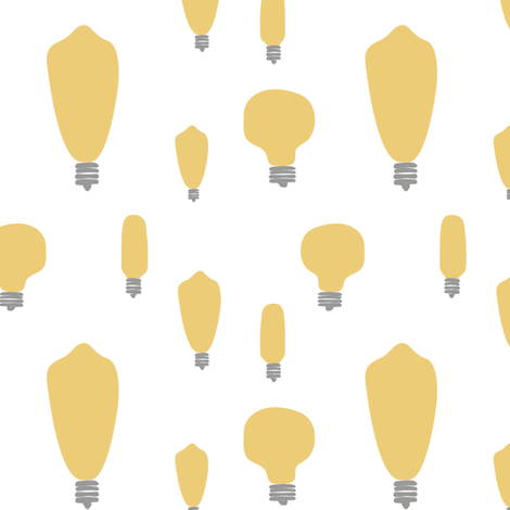 Hand-Drawn Bulbs in Gold fabric by huffernickel on Spoonflower - custom fabric