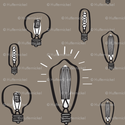 Hand-Drawn Bulbs With Tan Background