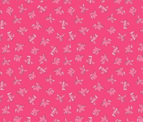 Puppy Unicorns co-ordinate - hot pink fabric by jenuine_designs on Spoonflower - custom fabric
