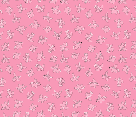 Puppy Unicorns co-ordinate - pale pink fabric by jenuine_designs on Spoonflower - custom fabric