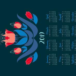 red tulips 2019_tea towel_27x18in
