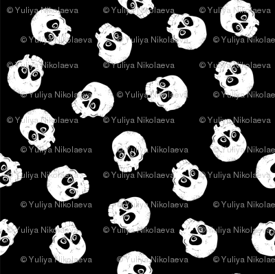 333b59baf11e Vintage Skulls pattern. Template for your wallpaper, t-shirt, brand ...