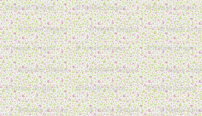 Dots a lot - small green pink white