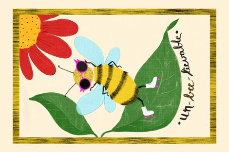 Unbeelievable__Tea_Towel5 fabric by yasminah_combary on Spoonflower - custom fabric