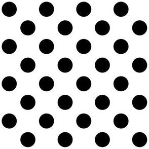 1960_White + Polka Black Dots
