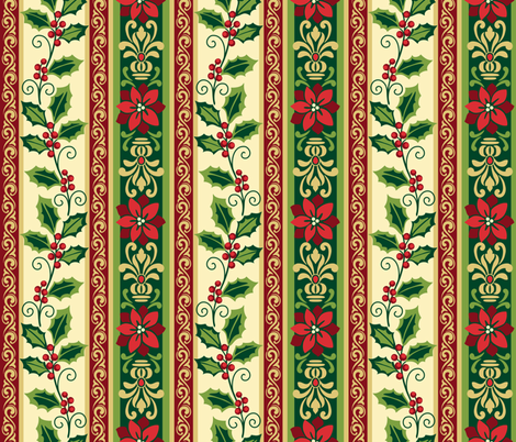 Christmas Stripe fabric by barbarapixton on Spoonflower - custom fabric
