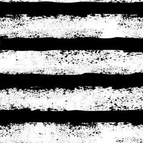 black and white distressed stripe