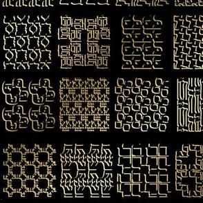 Alef Bet, 3D, Metallic Shadows