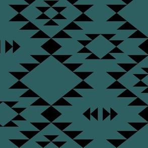 Navajo - Teal Black