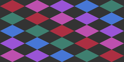 Colorful diamond shapes lines
