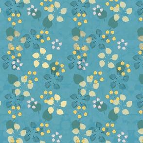 Flowerleaves Blue