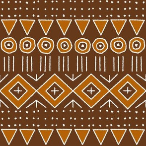 mudcloth 2 in brown and terracotta