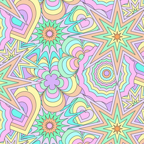 concenric 60's background