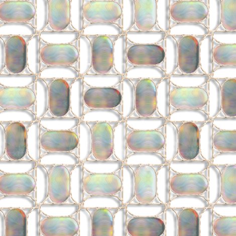 Mother of Pearl Cabochons set in Antique Filigree fabric by eclectic_house on Spoonflower - custom fabric