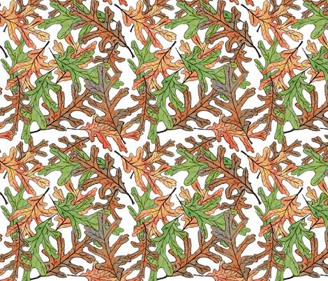 Fall Leaves fabric by eileenmckenna on Spoonflower - custom fabric