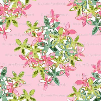 Soft Pink Floral Diamond Pattern