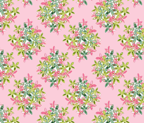 Soft Pink Floral Diamond Pattern fabric by lauriekentdesigns on Spoonflower - custom fabric