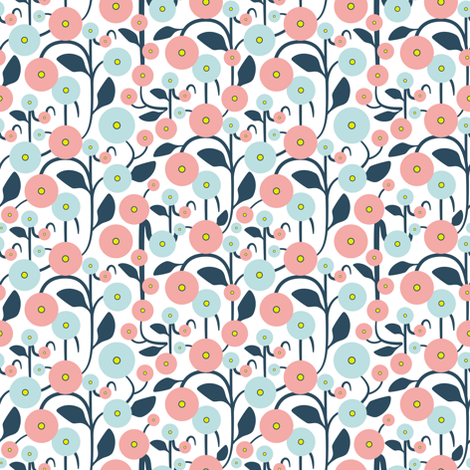 Spring Harmony - Climbing Flowers fabric by ms_jenny_lemon on Spoonflower - custom fabric