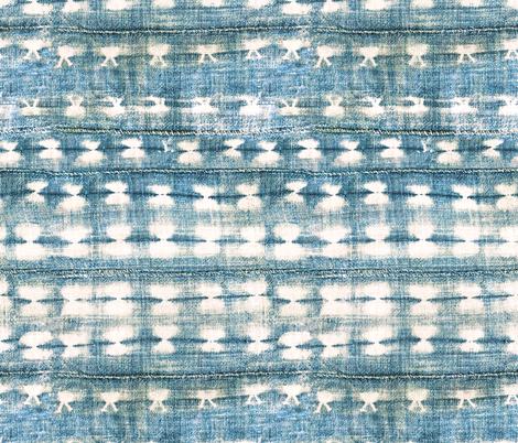 rustic indigo dye fabric by alison_janssen on Spoonflower - custom fabric