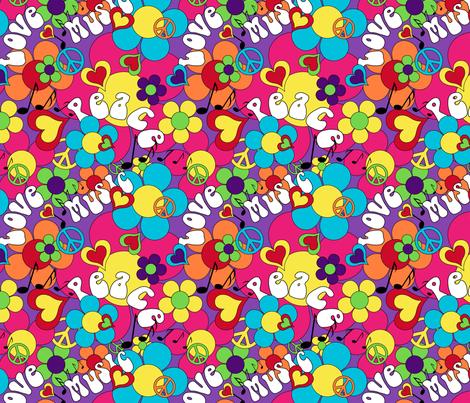 1967 Summer of Love fabric by vintage_style on Spoonflower - custom fabric