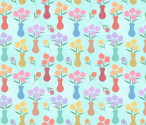 Flower Vases fabric by charladraws on Spoonflower - custom fabric
