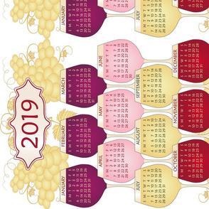Calendar Tea Towel - Wines